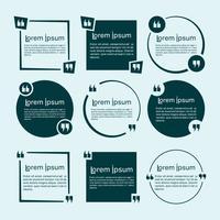 Set di modelli di citazioni. Citare il design minimal della bolla
