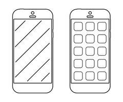 Icona di contorno di smartphone