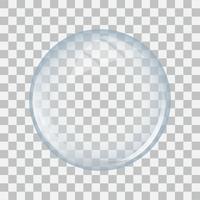 Sfera di vetro trasparente