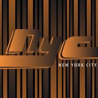 Poster vintage di New York vettore