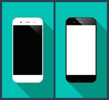 Smartphone lungo ombra vettore