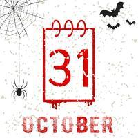 Halloween 31 ottobre vettore