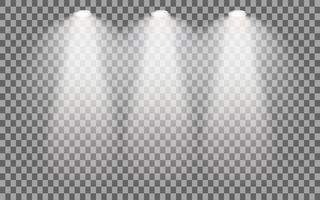 Faretto illuminato da palcoscenico vettore