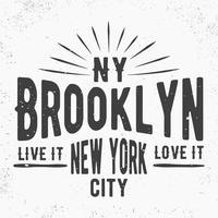 Timbro vintage di Brooklyn vettore