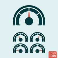 Icona calibro isolato vettore