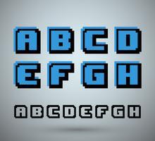 Alfabeto carattere pixel vettore