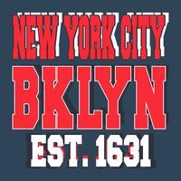 Bollo d'annata di New York di Broolklyn vettore