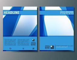 Coprire il modello di brochure vettore