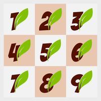 disegno numerico delle foglie vettore