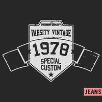 Scudo francobollo vintage vettore