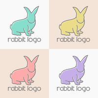 coniglio logo design vettoriale