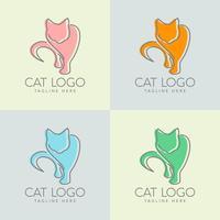design semplice logo gatto vettore