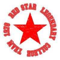 Timbro vintage stella rossa vettore