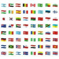 tutte le bandiere del paese vettore