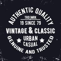 Timbro classico vintage vettore