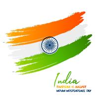Bandiera indiana vettore