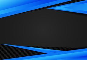 I triangoli geometrici blu del modello astratto contrappongono il fondo nero. È possibile utilizzare per la progettazione aziendale, brochure di copertina, libri, banner web, pubblicità, poster, volantini, volantini.