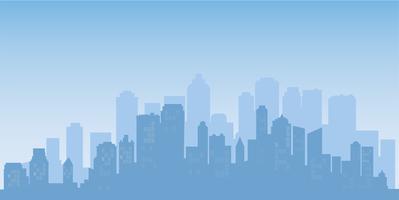 Fondo di paesaggio urbano della siluetta delle costruzioni. Architettura moderna. Paesaggio urbano della città