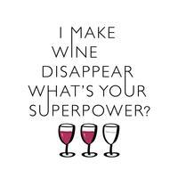 Divertente citazione sul vino vettore