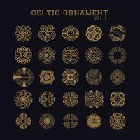 Set di ornamenti celtici vettore