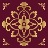 Sfondo di design ornamentale di lusso in colore dorato vettore