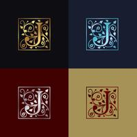 Logo decorativo della lettera J