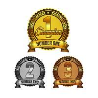 Set di distintivi di premi di classificazione di vettore