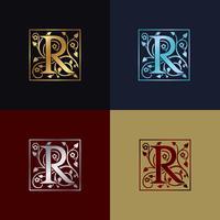 Logo decorativo della lettera R.