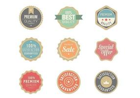 Retro Pack di Badge vettoriale