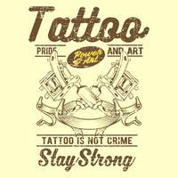 il tatuaggio d'annata di stile del grunge non è vettore del disegno della mano di crimine