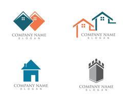 Casa semplice casa immobiliare logo icone vettore
