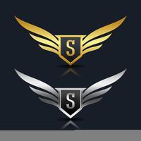 Modello di logo di lettera S Shield scudo