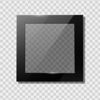 Cornici nere trasparenti vettore
