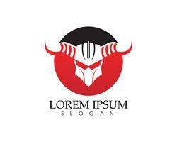 Maschera Gladiatore warior logo e simboli modello vettore