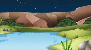 Un paesaggio di acqua naturale vettore