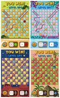 Set di modello di gioco scala serpente