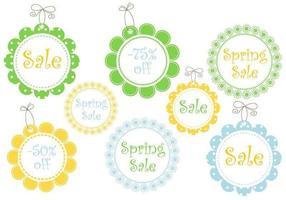 Vettori di tag vendita primavera floreale