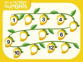 Compilazione matematica del numero mancante
