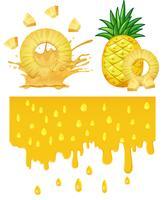Un ananas su sfondo bianco vettore
