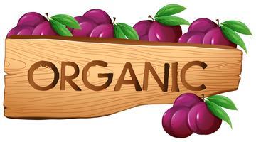 Segno organico con prugne