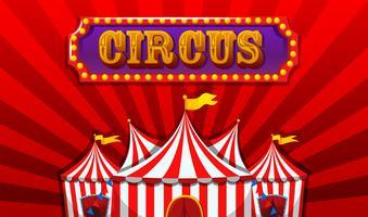 Uno striscione di circo fantasy vettore