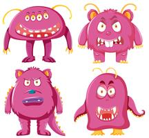 Set di caratteri mostro rosa