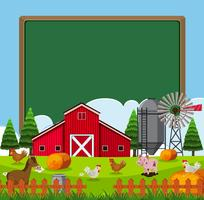 Modello di confine con molti animali da fattoria