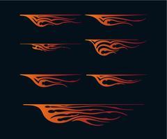 fiamme del fuoco in stile tribale per il design di tatuaggi, veicoli e t-shirt. Grafica per veicoli, strisce, vinile art vettore