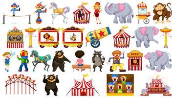 Insieme di elementi del circo
