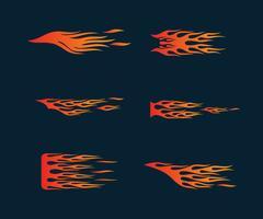 fuoco fiamme in stile tribale per tatuaggio, veicolo e deco t-shirt vettore