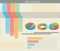 Un infograph con grafici colorati vettore