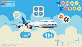 Infografica dell'aeroplano vettore