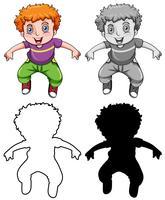 Set di ragazzo stile diverso