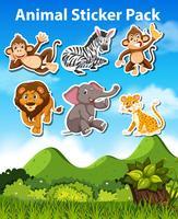 Set di adesivi animali
